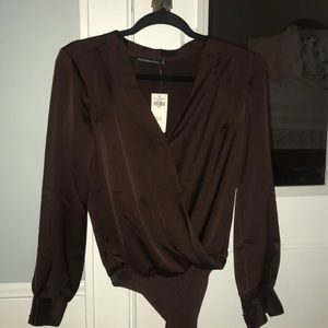 Abercrombie & Fitch Tops - brand new Abercrombie & Fitch satin bodysuit
